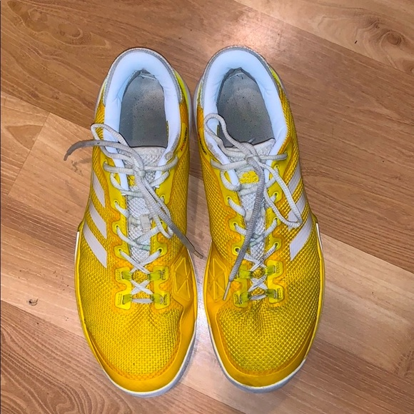 Adidas PROtection sports shoes yellow size 11.5